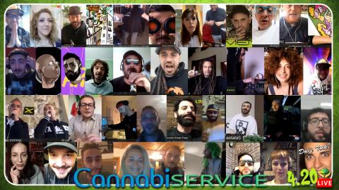 CANNABISERVICE 420LIVE! Resoconto di uno Streaming Party stupefacente!